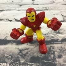 "Marvel Iron Man 2.25"" Figure Comic Book Hero Cake Topper Red-Yellow Hasbro 2008 - $5.93"