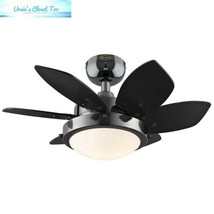 Westinghouse 7224300 Quince 24-Inch Gun Metal Indoor Ceiling Fan, Light Kit... - $91.15