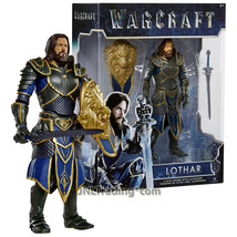 Year 2016 Warcraft Movie Series 6 Inch Tall Figure LOTHAR with Shield an... - $39.99
