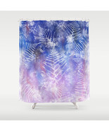 Shower curtains art shower curtain Design 57 blue pink purple leaf L.Dumas - $68.99
