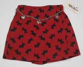 AMY BYER GIRLS 6X SKORT NWT RED BLACK SCOTTISH TERRIER SCOTTY PUPPY DOG ... - $14.60