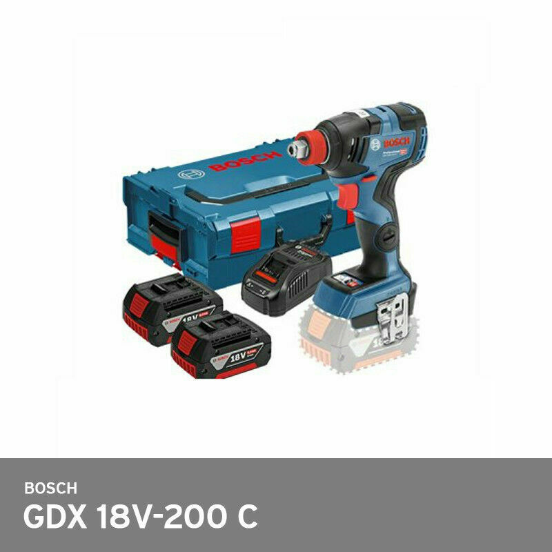 Bosch GDX 18V-200C 2-in-1 EC Brushless 147mm 200Nm 3,400rpm L-Boxx 2x6.0Ah FedEx