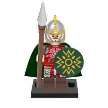 1 Pcs Medieval Military Eomer With Equipment Fit Lego Building Block Min... - $6.99