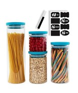 BERG & MON Stackable Glass Canister Set for the Kitchen with Airtight Li... - $30.70