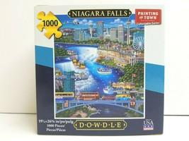Niagara Falls 1000 Pc Dowdle Folk Art Fun Entertain Mind Play Activity G... - $34.64
