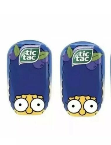 The Simpsons Limited Edition Jumbo Marge TIC TAC Blueberry 3.4 oz ~ 2 Pack