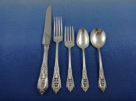 Rose Point by Wallace Sterling Silver Flatware Set for 8 Service 40 pcs Dinner - $2,295.00