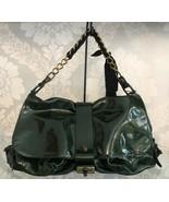 LANVIN Paris Dark Green Patent Leather Shoulder Hand Bag $2085 NWT - $965.37