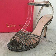 Kate Spade Farryn Bronze Lurex Sparkle High Heel Sandals Size 8.5 NIB Op... - $354.42