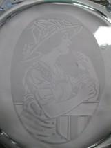 Coca-Cola Fostoria Clear Glass Snack Plate 1911 Calendar Girl Centennial - $19.80
