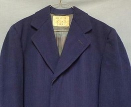 Vintage Siegel's Wool Herringbone Overcoat (Granite Fabric) Men's Size 4... - $27.00