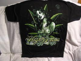 MARIJUANA LEAF SEXY WOMAN MONEY HIGH DREAM T-SHIRT SHIRT - $11.75+