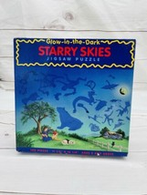 Starry Skies Glow-in-the-Dark Constellations 100 Pc Puzzle Astronomy Vintage A2 - $13.83