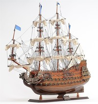 Famous Soleil Royal 1668 Historic Wooden Ship Model Hand Built From Scra... - $622.14