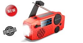 NOAA Weather Radio,5-Way Powered Solar Hand Crank Emergency AM/FM/Shortw... - $55.00