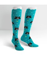 50% Chance of Cats Knee High Socks New Women's Size 9-11 Kitty Kat Fashion - $11.95