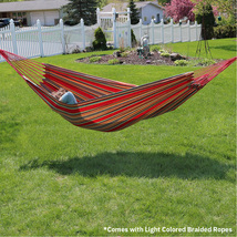 Castaway Oversized Brazilian Style Striped Travel Hammock - $36.43