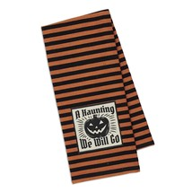 A Haunting We Will Go Embellished Dish Towel New Halloween Orange Black ... - $13.85