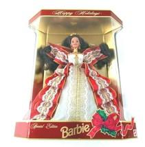 Happy Holidays Vintage 1997 Brunette Barbie Doll Factory Sealed Package ... - $23.19