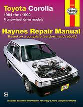 Haynes Publications 92035 Repair Manual Toyota Corolla 1984-92 Shrink wrapped - $11.65