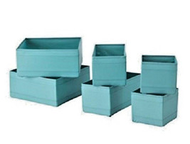IKEA SKUBB Storage Box Drawer Organizer Set of 6 (Light Blue) - $12.24