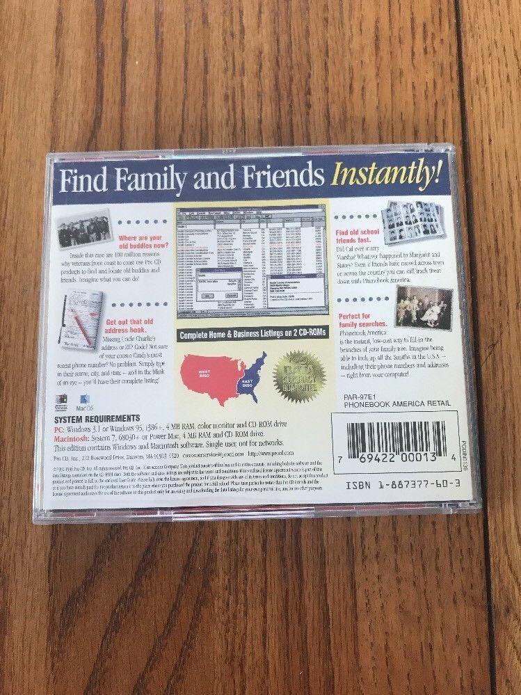Every Phonebook In America On 2 CD-ROMs Ships N 24h image 3