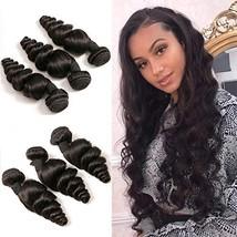 Loose Wave Bundles 9A Gread Unprocessed Peruvian Hair 3 Bundles Cheap Lo... - $80.56