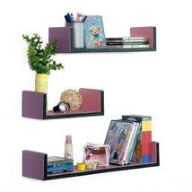 Trista - [My Lasting Love] U-Shaped Leather Wall Shelf / Bookshelf / Flo... - $88.15