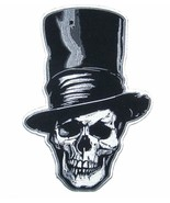 JUMBO 10 IN SKULL TALL STOVE PIPE HAT  JACKET BACK PATCH JBP85 new patch... - $23.74