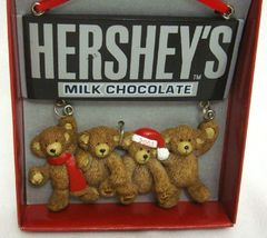 2003 Hershey's Christmas Ornament Bears [Brand New] - $14.65