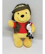 "Disney Store Winnie the Pooh Plush Safari Bear 10"" Zebra, Vest and Hat - $6.53"