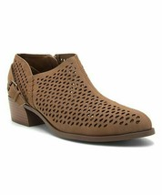 Qupid, Maple Perforated Rager Bootie, Sz 6.5 - $20.79
