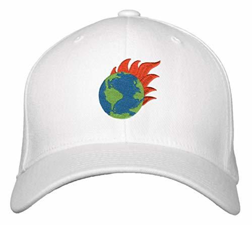Earth On Fire Hat - Adjustable Cap Global Warming Climate Change Wildfires