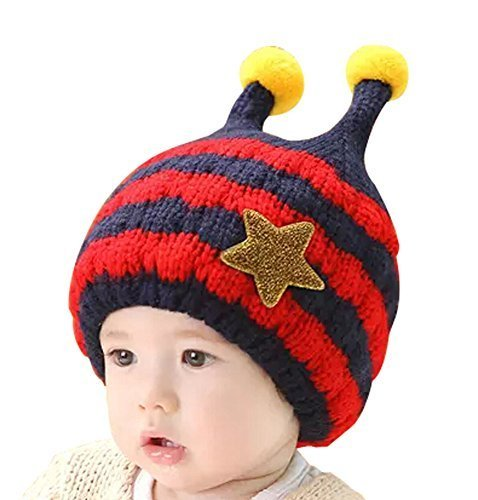 New Style Baby Warm Hat Cap Cute Baby Winter Hats RED, 6-48 Months