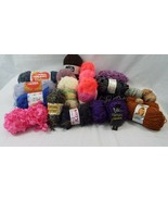 Lot of 20+ Vintage + New Yarn Skeins Knitting Variety of Colors + Brands - $50.21