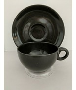 MCM Design Russel Wright Iroquois Casual China Charcoal Coffee Cup & Sau... - $11.14