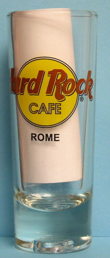 "Hard Rock Cafe ""ROME"" Collectible Slender Shot Glass"