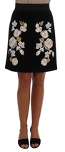 Dolce & Gabbana Black Floral Ricamo Skirt - $789.91