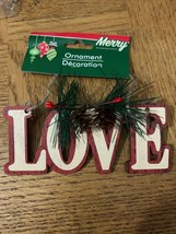 Love Christmas Ornament - $16.54