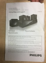 2014 PHILIPS Blu-Ray Player w/Speakers User Manual For Model HTB3524 - $5.10