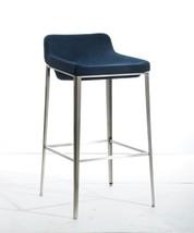 Modrest Adhil Modern Blue Fabric Bar Stool - $286.00