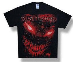 Disturbed-Red Splatter Face-XXL Black Lightweight T-shirt - $18.99