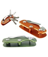 Key Keychain Holder EDC Gear Organizer Folder Clamp Pocket Collector Gad... - €6,53 EUR