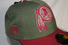 BNWT New Era Washington Redskins Salute to Service 59FIFTY Fitted Hat 7 1/8 - $30.00