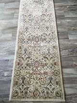 """2x8 (2'2"""" x 7'6"""") William Morris Arts & Crafts Mission Style Ivory Area Rug - $89.00"""