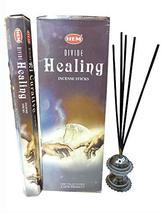 Hem Divine Healing Natural Incense Sticks Indian Handroll Fragrance Agarbatti 12 - $19.79