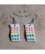 Sweet Retro Candy Dot Charm Earrings Silver Wire Clay Candy Dots Sugar Kids - $6.00