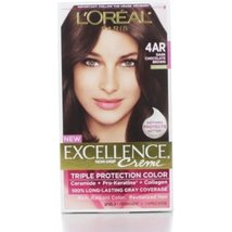 L'Oreal Excellence Creme Triple Protection Color - 4AR Dark Chocolate Brown - $10.99
