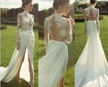 Ivory long sexy evening cheap wedding dress  side split prom dress  pd0317 thumb155 crop