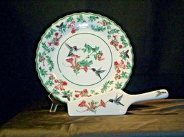 Porcelain National Wildlife Federation Hummingbird Platter & Server Andrea by Sa image 9